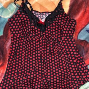 Polka dot sleep tank